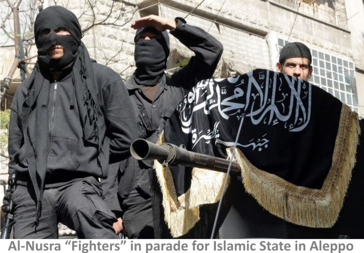 Al-Nusra-fighters-in-Parade