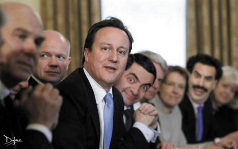 Cameron-cabinet-w-MrBean&Borat
