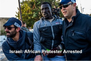 Israel-Afro-protester-arrested