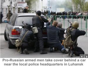 Pro-Russians-Luhansk