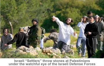 Israeli-Settlers-throw-stones